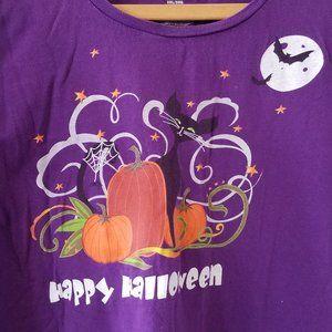 Purple Halloween Short Sleeve Tee Size 3XL (22/24)